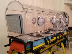 capsula de izolare şi transport a persoanelor sau materialelor infectate